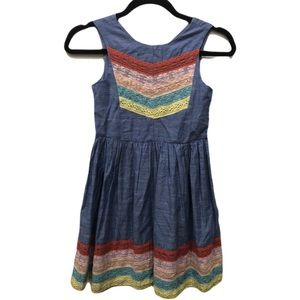 Aphorism Girl's Chambray and Lace Dress NWT